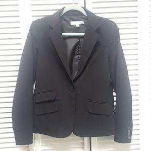 New York & Company Black Blazer sz 8 Womens 1 butn